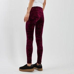 TOPSHOP crushed velvet leggings